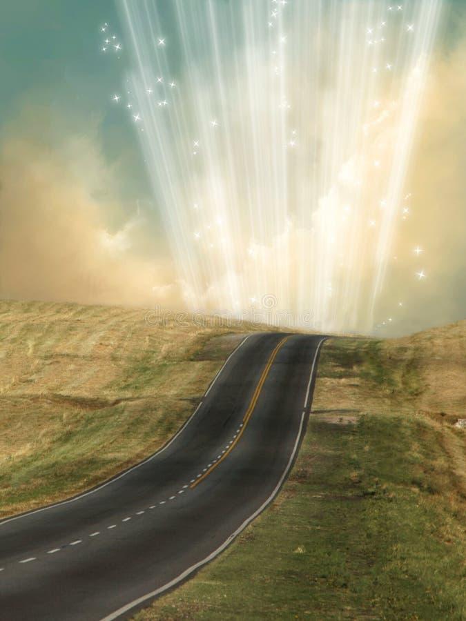 Eenzame weg royalty-vrije illustratie