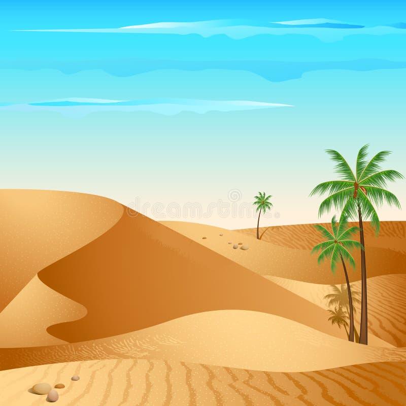 Eenzame Woestijn vector illustratie