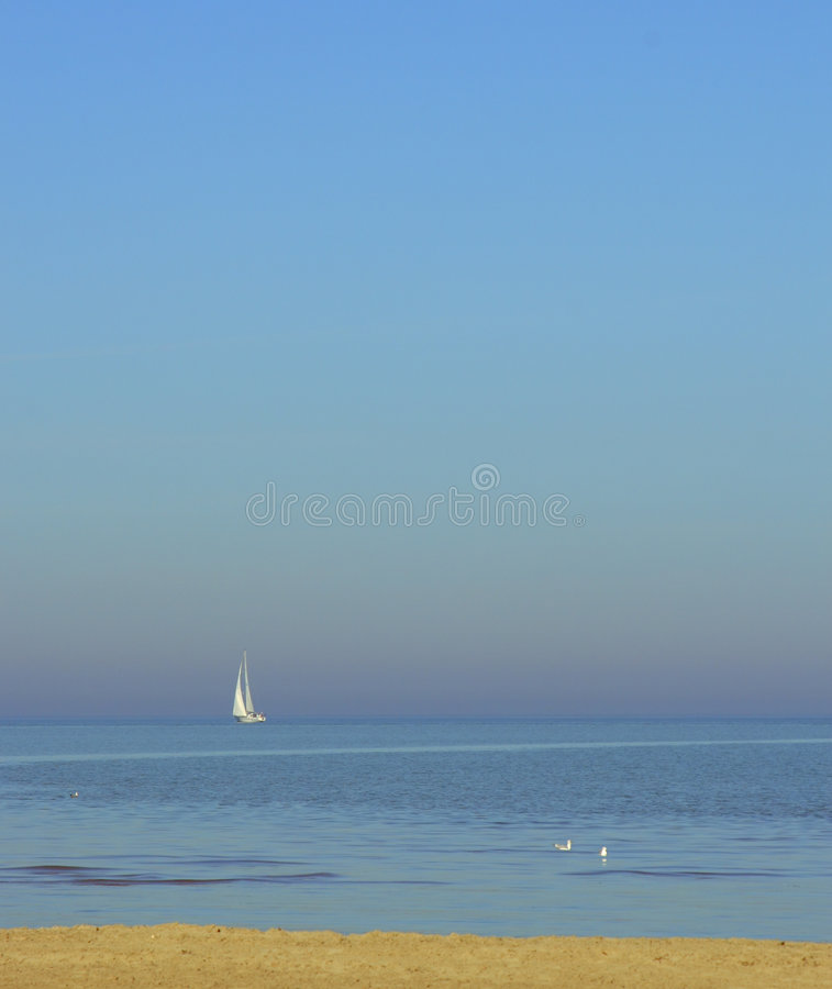 Eenzame zeeman royalty-vrije stock foto