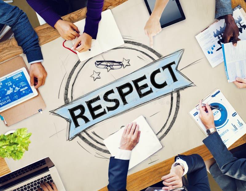 Eerbiedeerlijkheid Eerbaar Regard Integrity Concept stock afbeeldingen