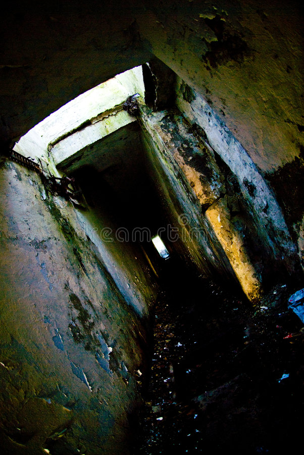 Eerie catacombs. Eerie and obsolete military catacombs in Paldiski, Estonia stock photography