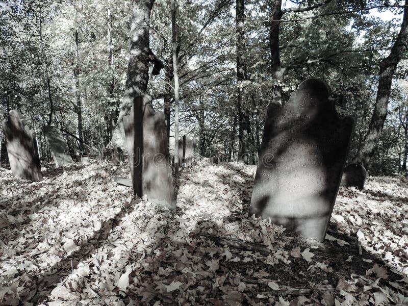 Eerie grave yard stock image