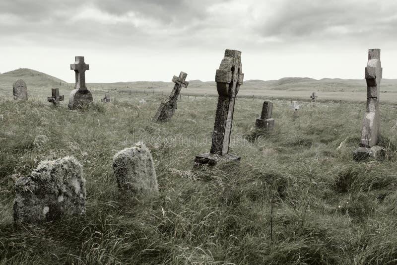 Eerie gravesite royalty free stock photo