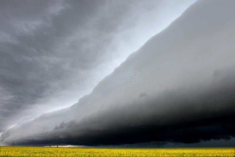 Download Eerie Shelf Cloud In Illinois Stock Image - Image: 24853801