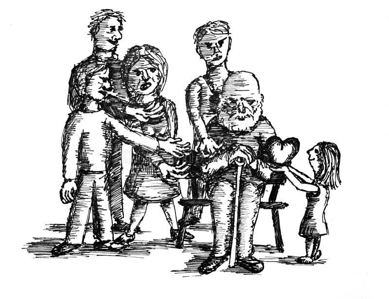 Eerlijke liefde royalty-vrije illustratie