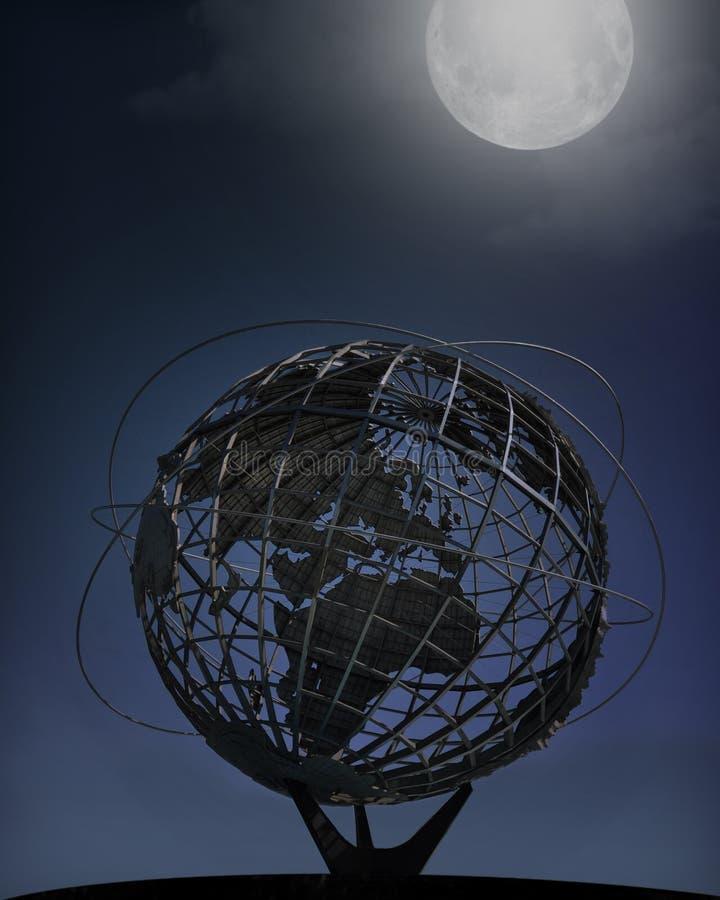 Eerlijke Unisphere van de Wereld van New York, Nacht royalty-vrije stock fotografie