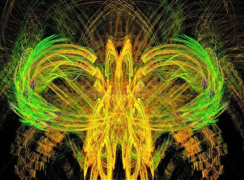 Eerlijke vreemde vogel Abstracte kleurrijke ontwerpfractal samenstelling stock foto's