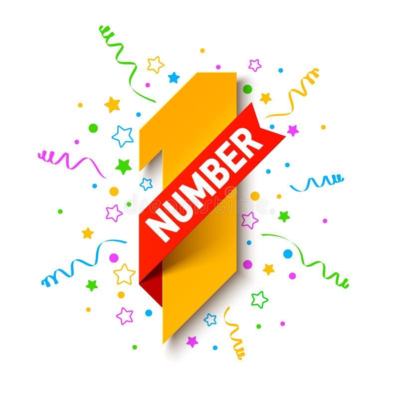 Eerste aantal vector illustratie