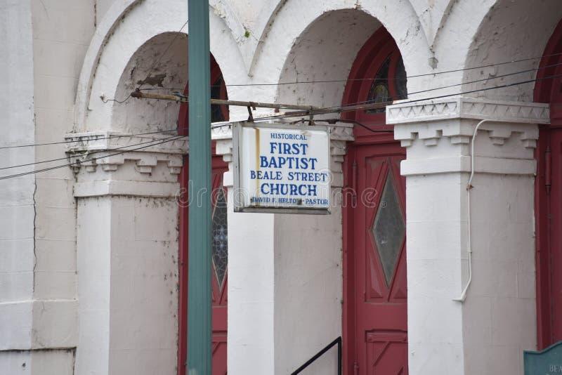 Eerste Baptist Church Beale Street, Memphis, TN royalty-vrije stock fotografie