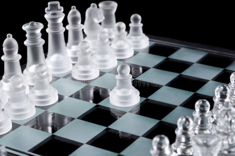 Eerste beweging met wit pand royalty-vrije stock foto