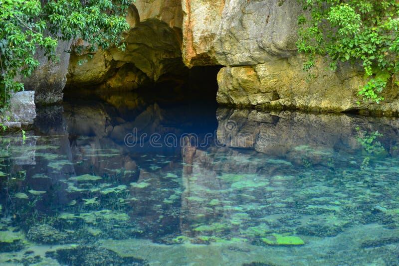 Eerste bron van water stock foto's