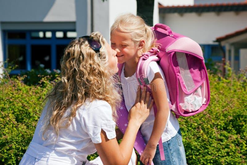 Eerste dag op school royalty-vrije stock fotografie