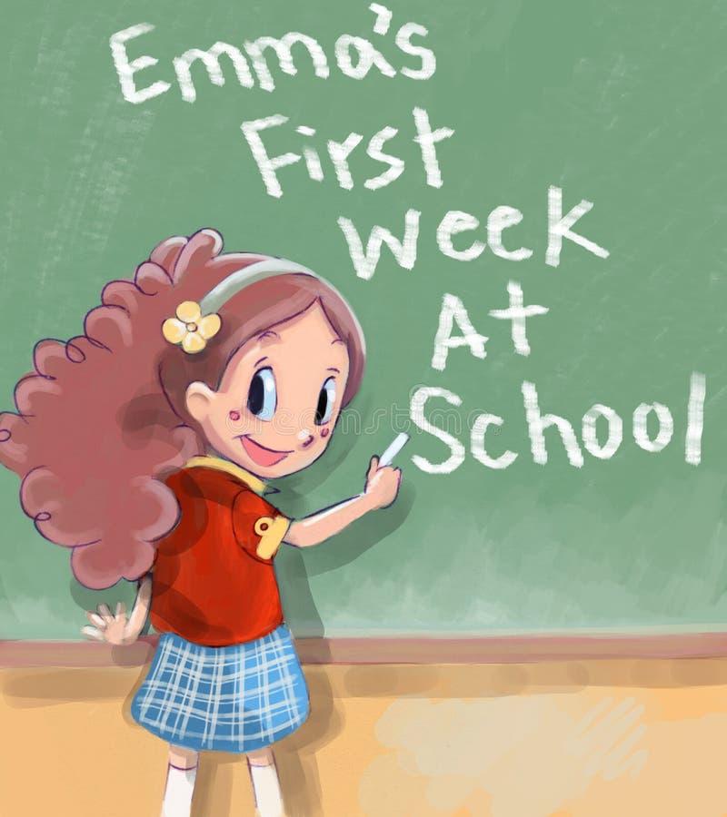 Eerste dag van school royalty-vrije illustratie