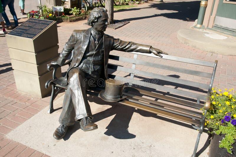 Eerste Eerste minister Sir John A Macdonald Statue - Charlottetown - Canada stock afbeelding