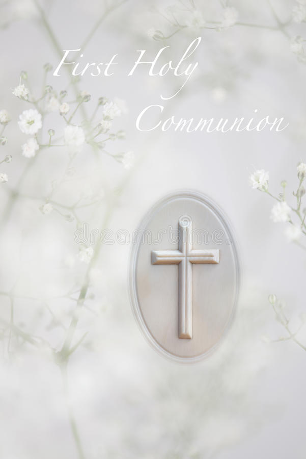 Eerste Heilige Communie royalty-vrije stock foto's