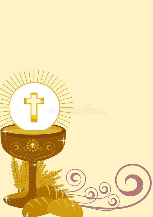 Eerste heilige kerkgemeenschap stock illustratie