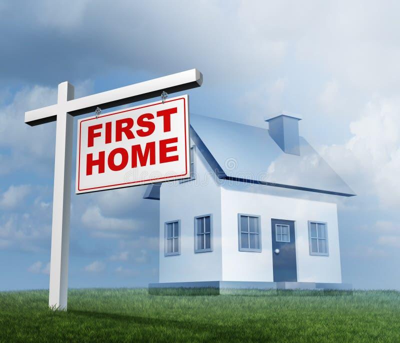 Eerste Huis Real Estate stock illustratie