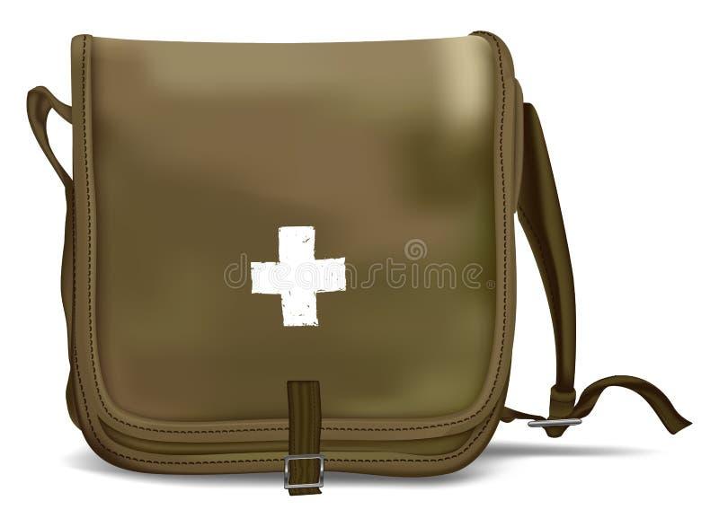 Eerste hulp Kit Shoulder Bag Medische apparatuur stock illustratie