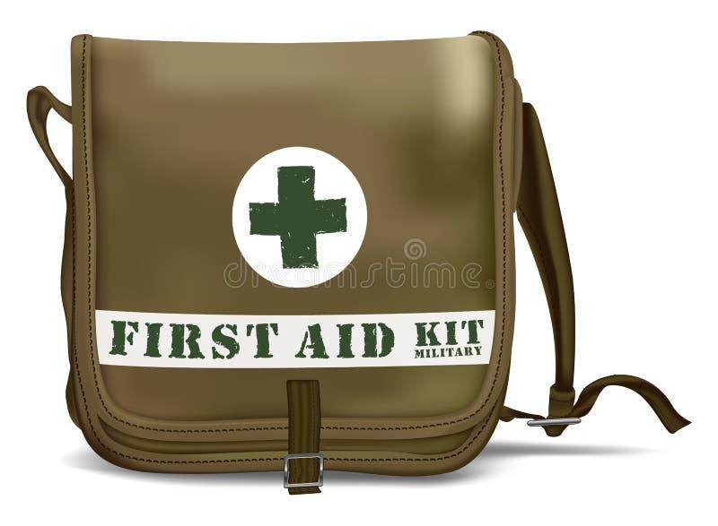 Eerste hulp Kit Shoulder Bag Medische apparatuur royalty-vrije illustratie