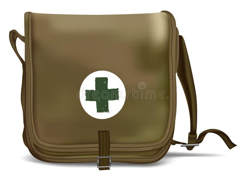 Eerste hulp Kit Shoulder Bag Medische apparatuur vector illustratie