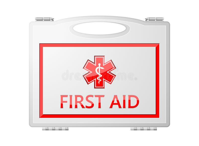 Eerste hulpuitrusting; Medische apparatuur vector illustratie