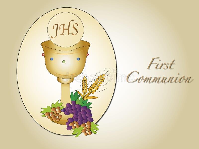 Eerste kerkgemeenschap vector illustratie