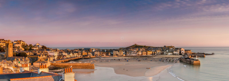 Eerste Licht over St Ives Harbour, Cornwall royalty-vrije stock afbeelding