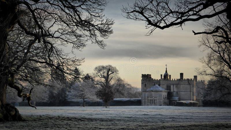 Eerste licht, Rousham, Oxfordshire royalty-vrije stock fotografie