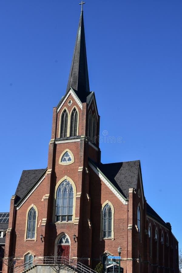 Eerste Lutheran Kerk, Decorah, Iowa royalty-vrije stock afbeelding