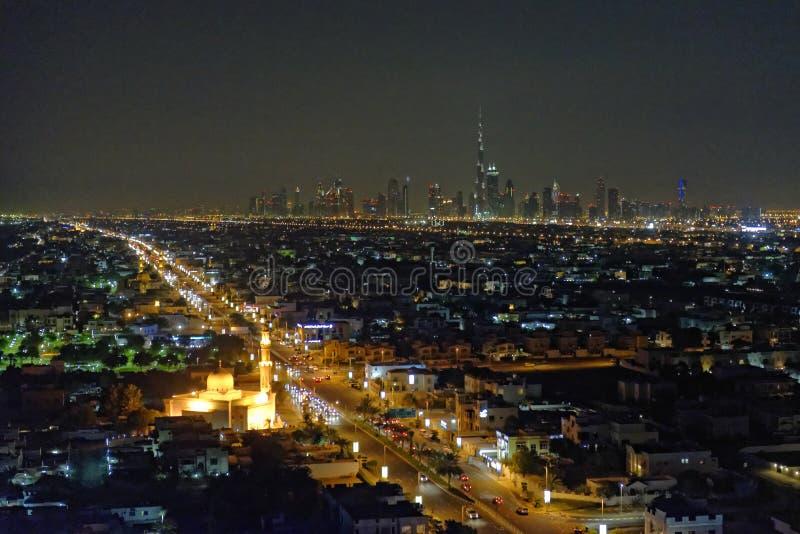 Eerste Meningen vanaf de bovenkant van Burj Khalifa royalty-vrije stock fotografie