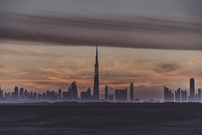Eerste Meningen vanaf de bovenkant van Burj Khalifa stock foto's