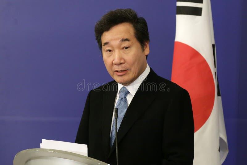 Eerste minister van de Republiek Korea Lee Nak-yeon stock afbeeldingen