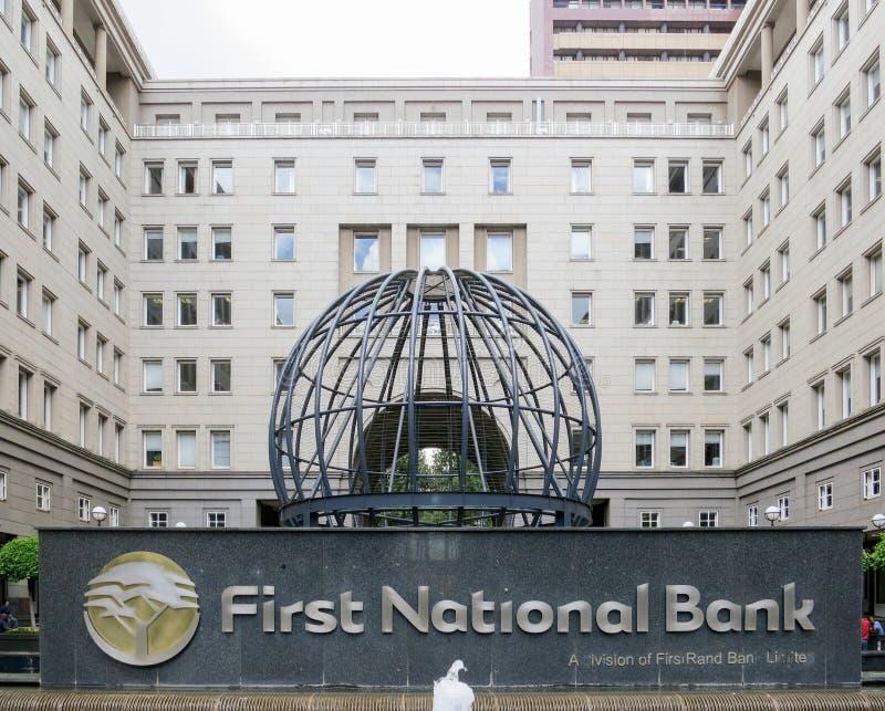 Eerste National Bank - Johannesburg, Zuid-Afrika stock foto's