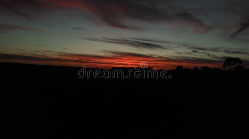 Eerste Oranje Zonsondergang royalty-vrije stock foto