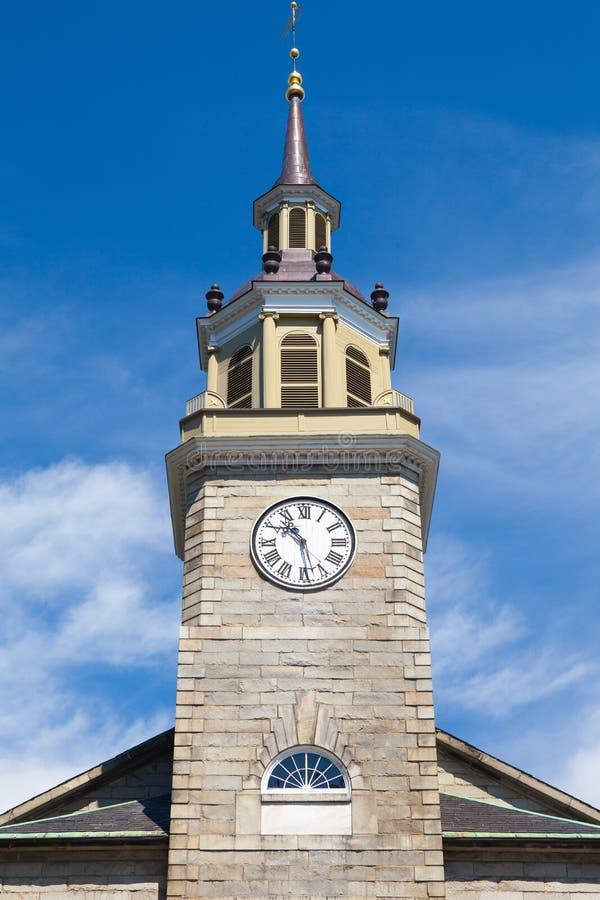Eerste Parochiekerk in Portland, Maine, de V.S. Gebouwd in 1825 voor stock afbeeldingen