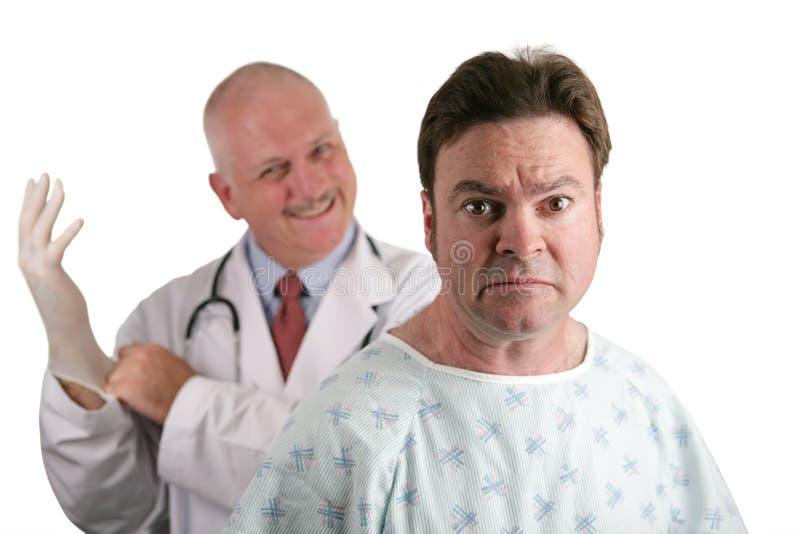 Eerste Prostate Examen royalty-vrije stock foto's