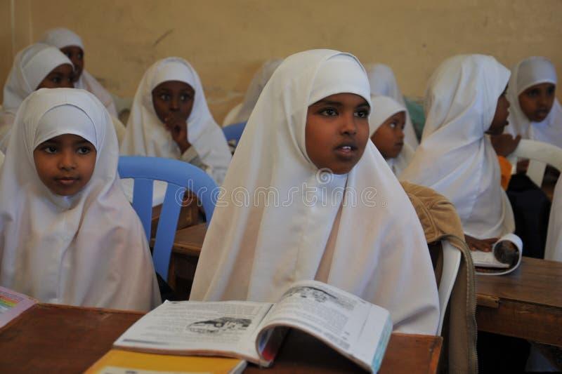 Eerste schoolzonneschijn van Hargeysa. stock fotografie