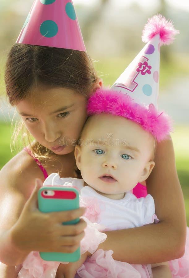 Eerste Selfie van de baby royalty-vrije stock foto's