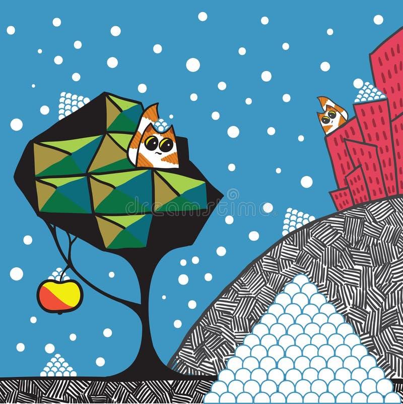 Eerste sneeuw vector illustratie