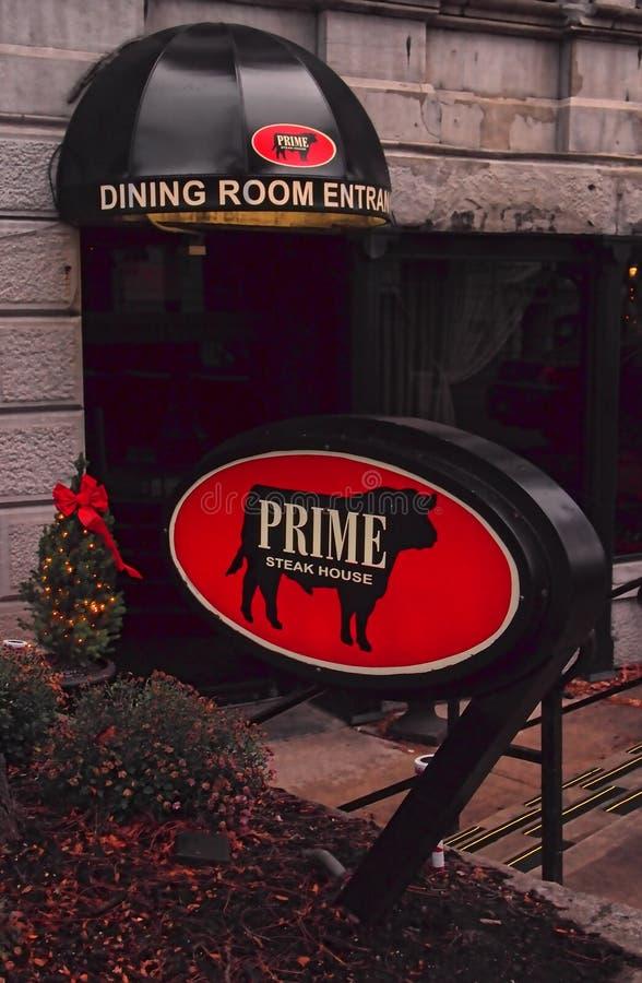 Eerste Steakhouse stock afbeeldingen