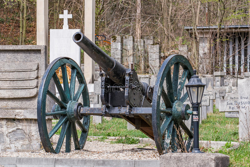 Eerste Wereldoorlog - oud kanon stock foto