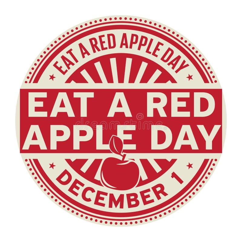 Eet een Rode Apple-Dag, 1 December stock illustratie