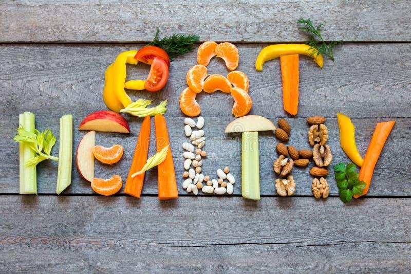 Eet gezond stock fotografie