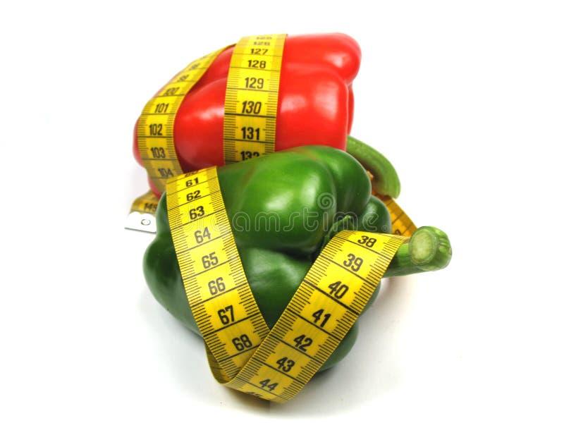 Eet gezond voedsel royalty-vrije stock afbeelding