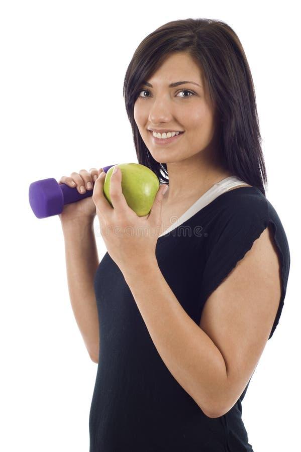 Eet net & oefen uit stock fotografie