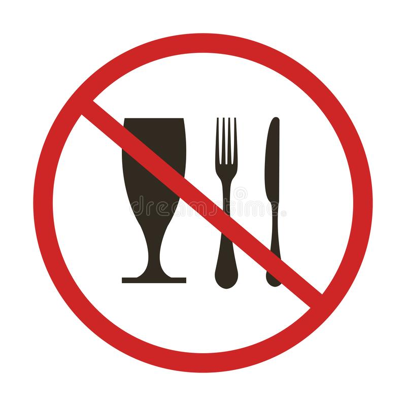 Eet niet vector illustratie