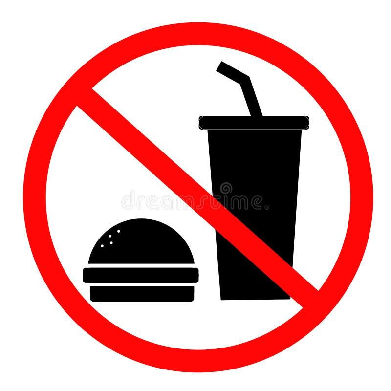 Eet niet en drink iconl voor uw websiteontwerp, embleem, app, royalty-vrije illustratie