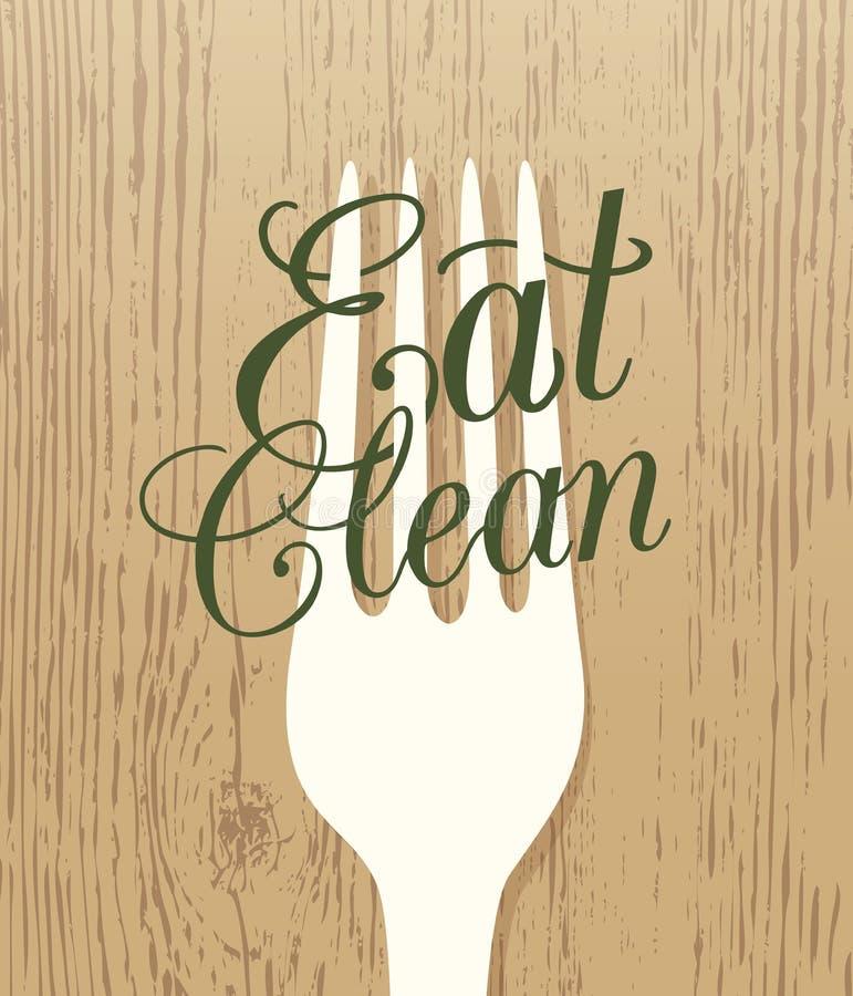 Eet schone gezonde conceptenillustratie stock illustratie