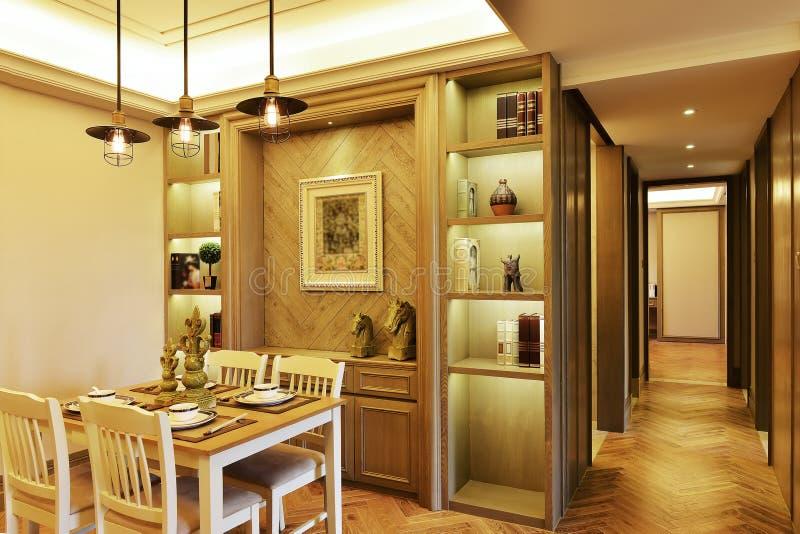 Eetkamer en deurgang royalty-vrije stock afbeeldingen
