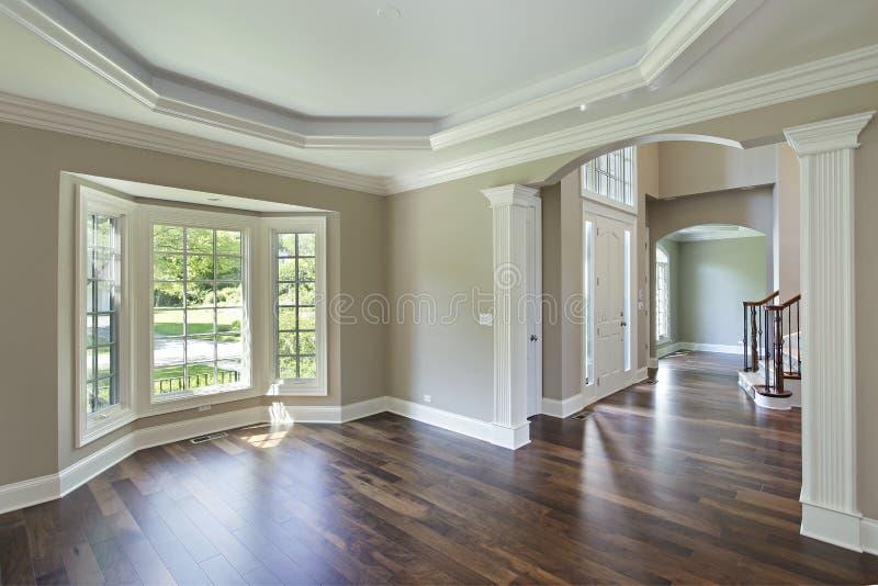 Eetkamer met loungemening stock afbeeldingen